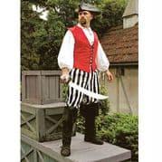 Black & White Stripe Pirate Pants