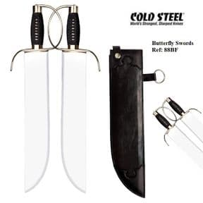 Cold Steel Butterfly Swords & Leather Scabbard