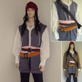 Capt. Jack Sparrows 2 x Pirate Waist Belts