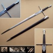 Classic Medieval Longsword & Scabbard