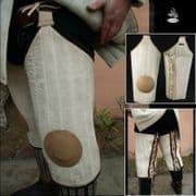 Crusader Upper Leg Protectors - Black / White