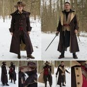 Dark Brown Helsing, Highwayman / Coachman Coat