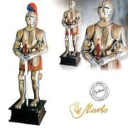 Deluxe Gold Etched Carlos V Suit of Armour by Marto of Toledo Spain - Full Size