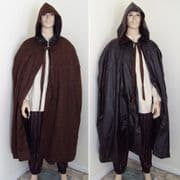 Full Length Suede Reversable Waterproof Cape With Hood