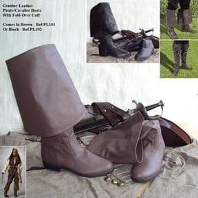 Genuine Leather Pirate/Cavalier Boots