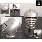 German Maximilian Helmet - 16 Gauge