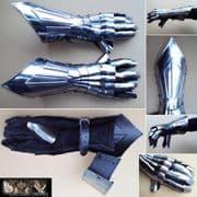 Gothic Style 16G Steel Gauntlets