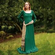 Green Cotehardie With Gold Sash