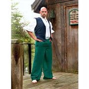 Green Cotton Pirate Pants