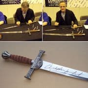 Highlander Connor Macleod Sword - Signed On The Blade By  Christopher Lambert.