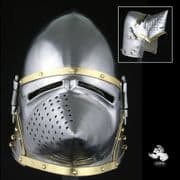 Houndskull Bascinet - Pigface Helmet - 14 Gauge