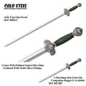 Cold Steel Jade Lion Gim Sword