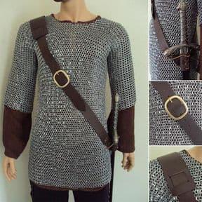 Medieval Adjustable Leather Sword Frog