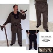 Medieval Faux Suede Cord Laced Trousers