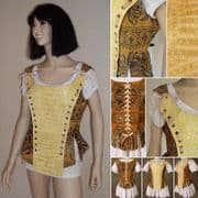 Medieval/Pirate/Renaissance Alligator & Lace Corset
