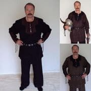 Medieval / Viking Faux Suede Cord Laced Shirt