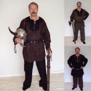 Medieval/Viking Faux Suede Costume Set