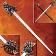 Mercenary Schiavona Half Basket-Hilt Sword