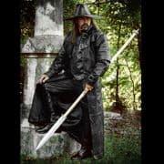 Midnights - Long Black Soft Leather Coat