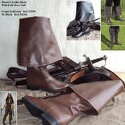 Pirate/Cavalier Boots With Fold-Over Cuff