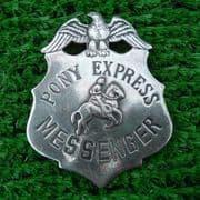 Pony Express Messenger Badge