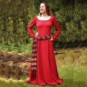 Red Cotehardie With Red & Gold Sash