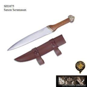 Saxon Scramasax With Leather Sheath