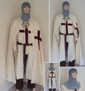 St George Medieval Knight 6 Piece Full Costume Set