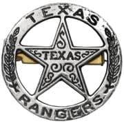 Texas Rangers Circle Star Cut Out Badge