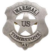 U.S. Marshall Tombstone Badge