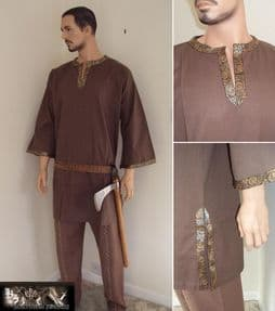 Viking or Medieval Tunic / Shirt With Trim