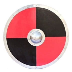 Viking Red & Black Round Shield