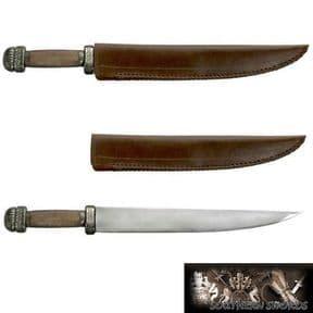 Viking / Saxon Scramasax Dagger & Leather Sheath