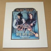 Will Smith and Kevin Kline Signed & Mounted Lobby Card - Wild Wild West