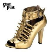 Womens Bronze Steampunk Shoes