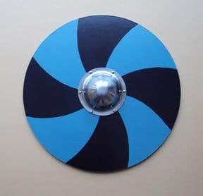 Wooden Viking Shield - Painted Blue & Black