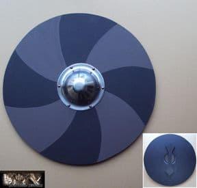 Wooden Viking Shield - Painted Grey & Black
