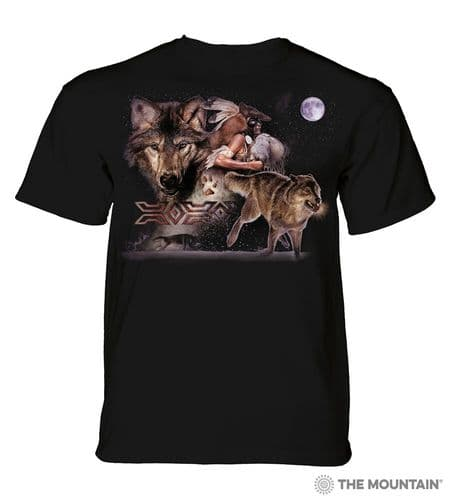 Arapaho Wolf Moon T-shirt | The Mountain®