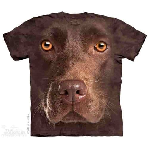Chocolate Lab Face T-shirt | The Mountain®