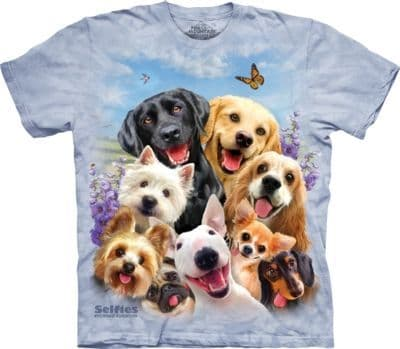Dogs Selfie T-shirt | The Mountain®