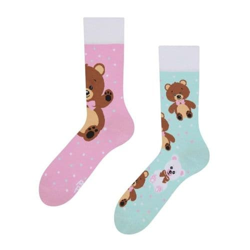 Good Mood | Adult Regular Socks | Teddy Bear