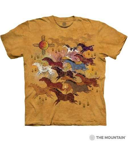 Horses and Sun T-shirt | The Mountain®