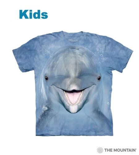 Kids Dolphin Face T-shirt | The Mountain®