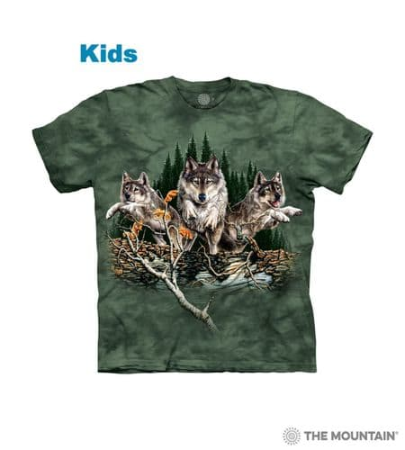Kids Find 12 Wolves T-shirt | The Mountain®