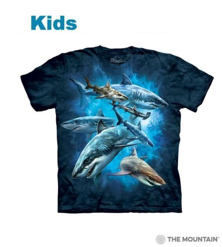Kids Shark Collage T-shirt | The Mountain®