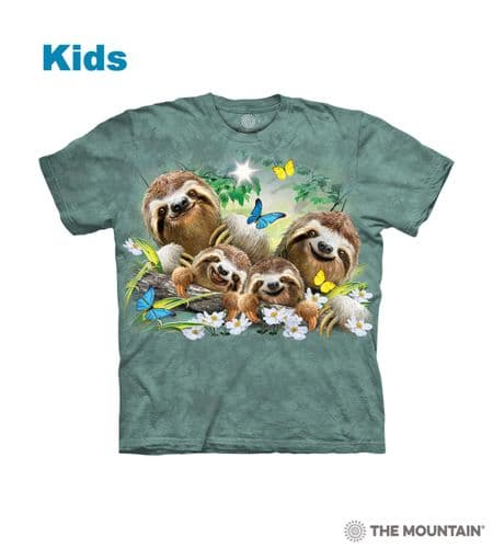 Kids Sloth Family Selfie T-shirt | Children's Animal T-shirts | The Mountain®