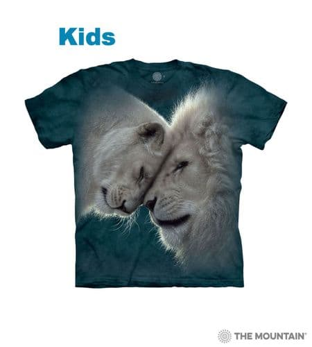 Kids White Lions Love T-shirt | The Mountain®