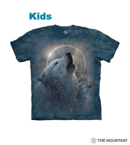 Kids Wolf Eclipse T-shirt | The Mountain®