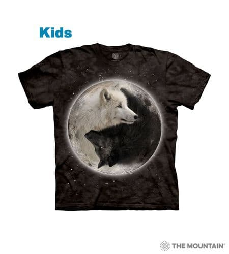 Kids Ying Yang Wolves T-shirt | The Mountain®