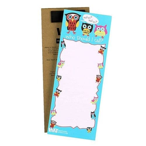 Owl Magnetic Notepad - LazyOne®